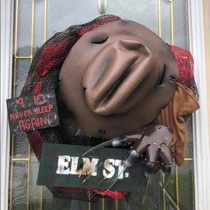 Freddy Krueger Halloween Wreath